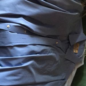 Men's Blue Dress Shirt Long Sleeve Roundtree York